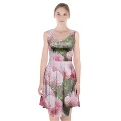 Flowers Roses Art Abstract Nature Racerback Midi Dress