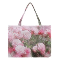 Flowers Roses Art Abstract Nature Medium Tote Bag