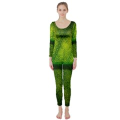 Leaf Nature Green The Leaves Long Sleeve Catsuit