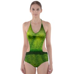 Leaf Nature Green The Leaves Cut Out One Piece Swimsuit