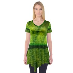 Leaf Nature Green The Leaves Short Sleeve Tunic