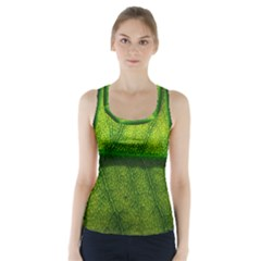 Leaf Nature Green The Leaves Racer Back Sports Top