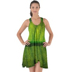 Leaf Nature Green The Leaves Show Some Back Chiffon Dress