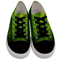 Leaf Nature Green The Leaves Men s Low Top Canvas Sneakers