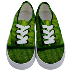 Leaf Nature Green The Leaves Kids  Classic Low Top Sneakers