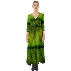 Leaf Nature Green The Leaves Button Up Boho Maxi Dress