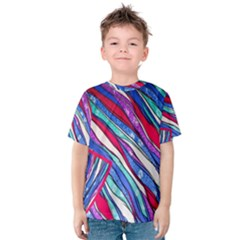 Texture Pattern Fabric Natural Kids  Cotton Tee