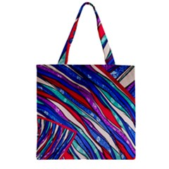 Texture Pattern Fabric Natural Zipper Grocery Tote Bag