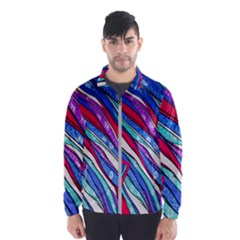 Texture Pattern Fabric Natural Wind Breaker (men)
