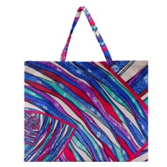 Texture Pattern Fabric Natural Zipper Large Tote Bag by Nexatart