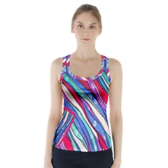 Texture Pattern Fabric Natural Racer Back Sports Top