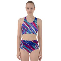 Texture Pattern Fabric Natural Racer Back Bikini Set