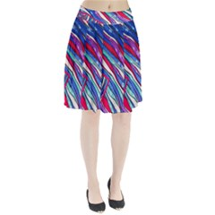 Texture Pattern Fabric Natural Pleated Skirt