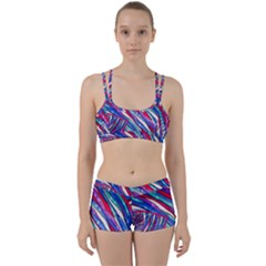 Texture Pattern Fabric Natural Women s Sports Set