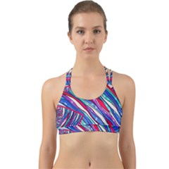 Texture Pattern Fabric Natural Back Web Sports Bra