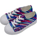 Texture Pattern Fabric Natural Kids  Low Top Canvas Sneakers View2