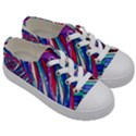 Texture Pattern Fabric Natural Kids  Low Top Canvas Sneakers View3