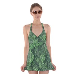 Geological Surface Background Halter Dress Swimsuit