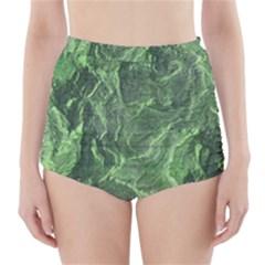 Geological Surface Background High Waisted Bikini Bottoms