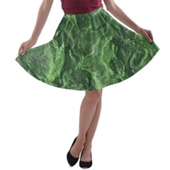Geological Surface Background A Line Skater Skirt
