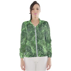 Geological Surface Background Wind Breaker (women)