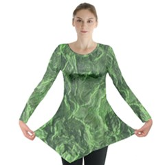 Geological Surface Background Long Sleeve Tunic