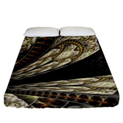 Fractal Abstract Pattern Spiritual Fitted Sheet (king Size)