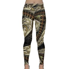 Fractal Abstract Pattern Spiritual Classic Yoga Leggings