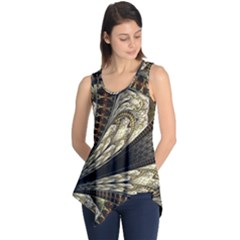 Fractal Abstract Pattern Spiritual Sleeveless Tunic