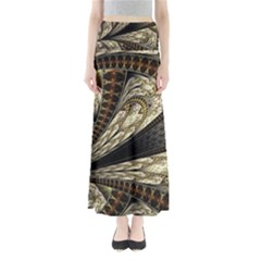Fractal Abstract Pattern Spiritual Full Length Maxi Skirt