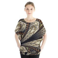 Fractal Abstract Pattern Spiritual Blouse