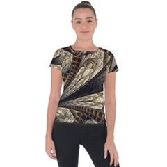 Fractal Abstract Pattern Spiritual Short Sleeve Sports Top
