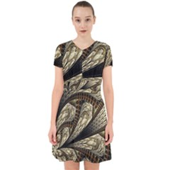 Fractal Abstract Pattern Spiritual Adorable In Chiffon Dress