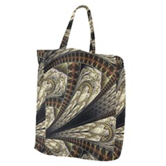 Fractal Abstract Pattern Spiritual Giant Grocery Zipper Tote by Nexatart