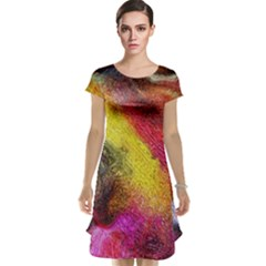 Background Art Abstract Watercolor Cap Sleeve Nightdress