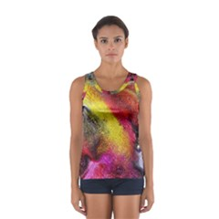 Background Art Abstract Watercolor Sport Tank Top