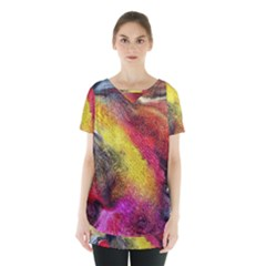 Background Art Abstract Watercolor Skirt Hem Sports Top by Nexatart
