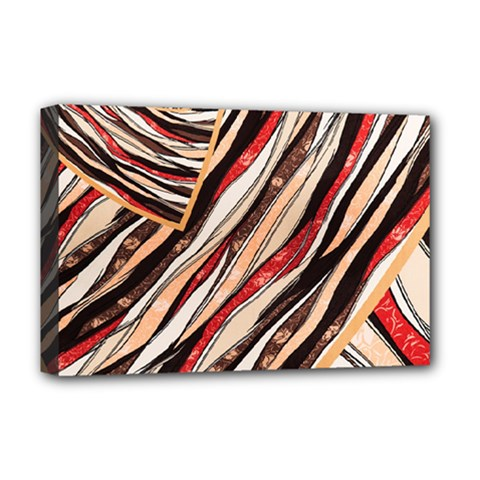 Fabric Texture Color Pattern Deluxe Canvas 18  X 12