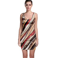 Fabric Texture Color Pattern Bodycon Dress