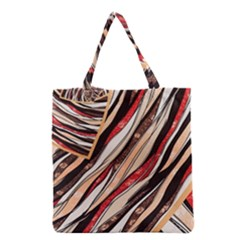 Fabric Texture Color Pattern Grocery Tote Bag