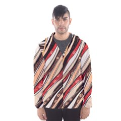 Fabric Texture Color Pattern Hooded Wind Breaker (men)