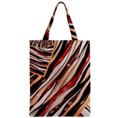 Fabric Texture Color Pattern Zipper Classic Tote Bag