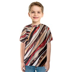 Fabric Texture Color Pattern Kids  Sport Mesh Tee