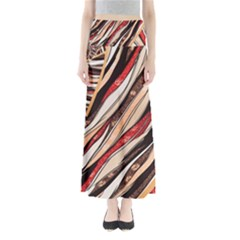 Fabric Texture Color Pattern Full Length Maxi Skirt