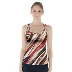 Fabric Texture Color Pattern Racer Back Sports Top