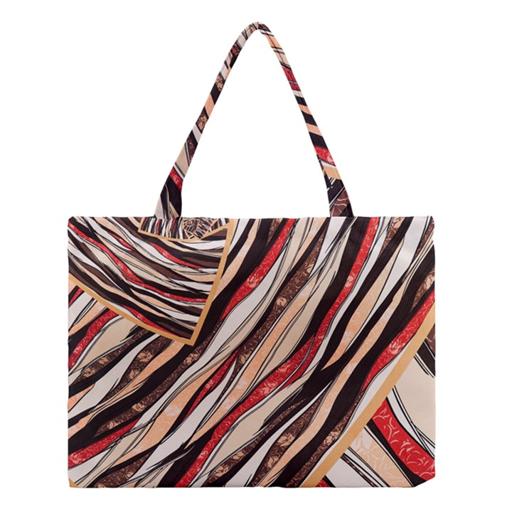 Fabric Texture Color Pattern Medium Tote Bag