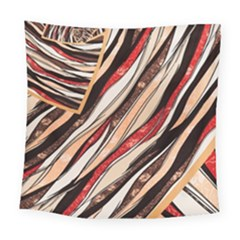 Fabric Texture Color Pattern Square Tapestry (large)