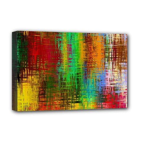 Color Abstract Background Textures Deluxe Canvas 18  X 12