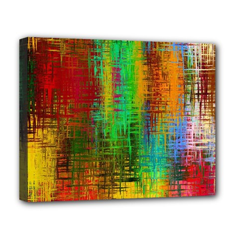 Color Abstract Background Textures Deluxe Canvas 20  X 16   by Nexatart