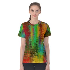 Color Abstract Background Textures Women s Cotton Tee